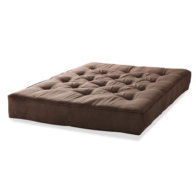 6 Innerspring Queen Size Futon Mattress Color: Chocolate