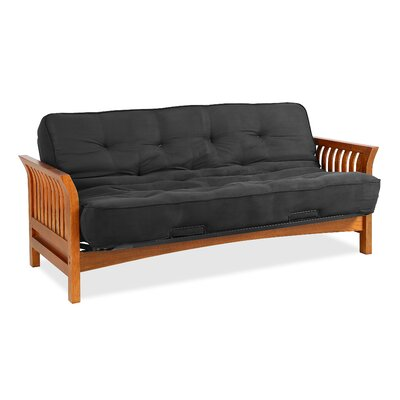 Boston Futon and Mattress Color: Black