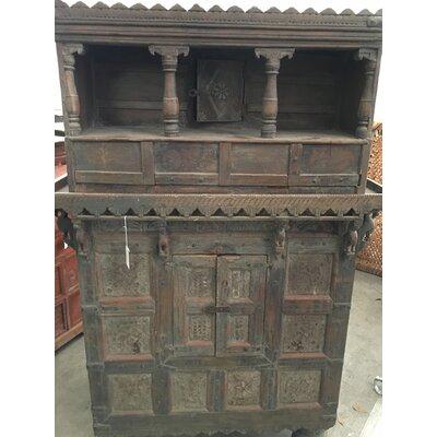 Vintage Wooden Floor Wine Cabinet