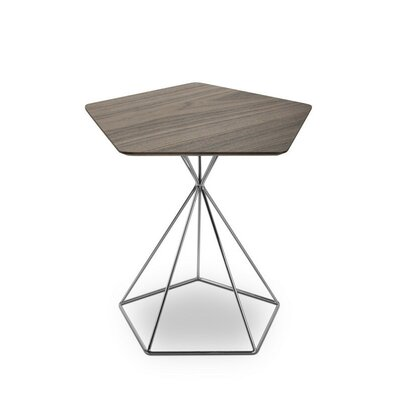 End Table Color: Walnut/Chrome