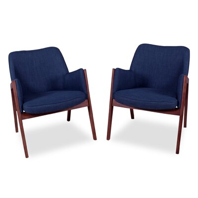 Kim Arm Chair Upholstery: Deep Blue