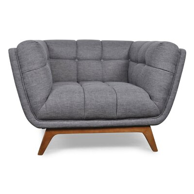 Kano Lounge Chair Upholstery: Gray Linen