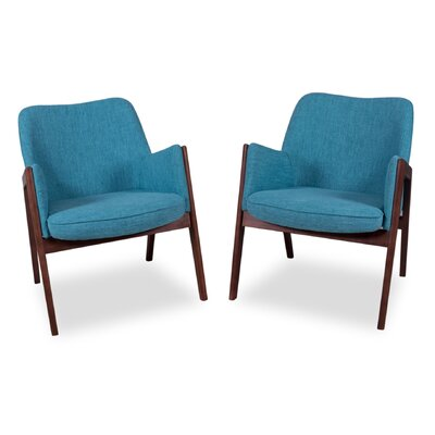 Kim Arm Chair Upholstery: Turquoise