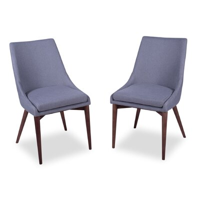 Dalton Side Chair Upholstery: Light Gray