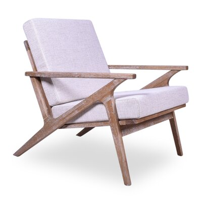 Hendrix Arm Chair Upholstery: Lavender, Finish: Light Ashwood