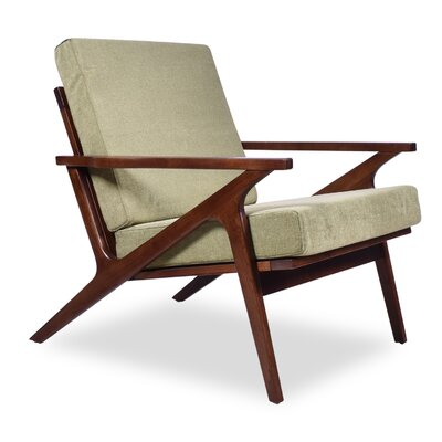 Hendrix ArmChair Upholstery: Pistachio, Finish: Dark Ashwood