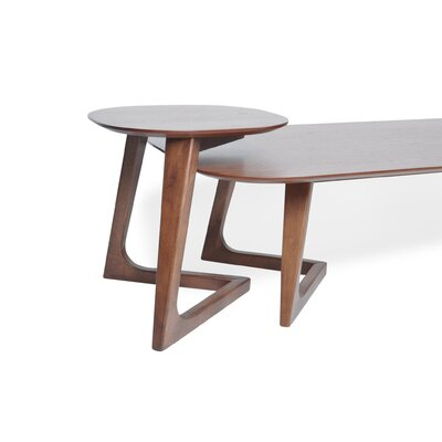 Miguel 2 Piece Walnut Coffee Table Set