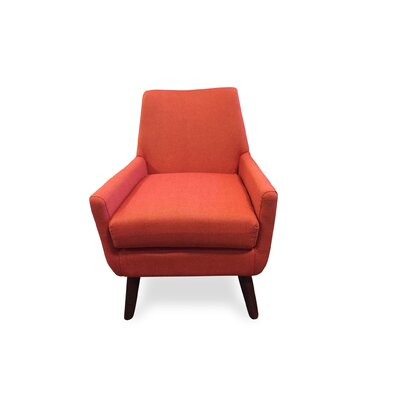 Jeremiah Mid Century Modern Arm Chair Upholstery: Orange