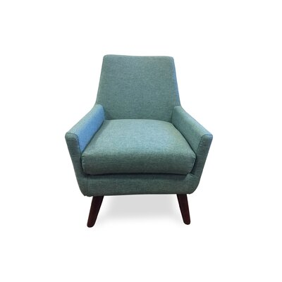 Jeremiah Mid Century Modern Arm Chair Upholstery: Teal