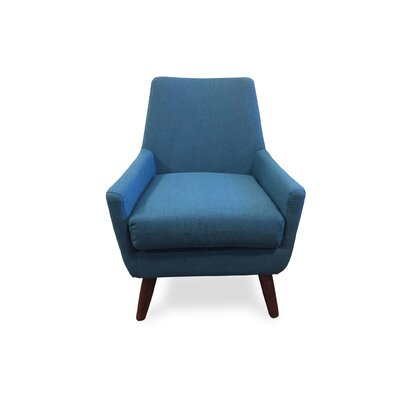 Jeremiah Arm Chair Upholstery: Turquoise
