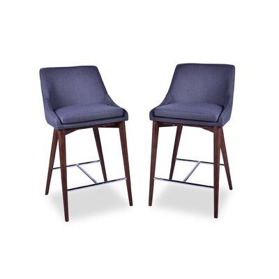 Dalton Mid Century Modern 25.5 Bar Stool Upholstery: Dark Gray