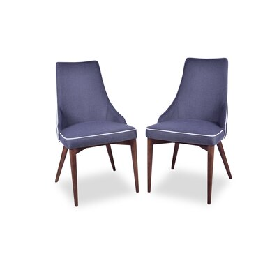 Jeromy Mid Century Modern Dining Chair Upholstery Color: Dark Gray