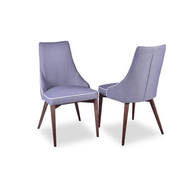 Jeromy Mid Century Modern Dining Chair Upholstery Color: Light Gray
