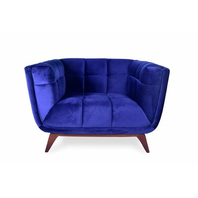 Kano Lounge Chair Upholstery: Blue Velvet