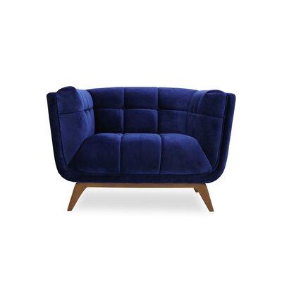 Kano Lounge Chair Upholstery: Blue Velvet