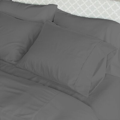 Loft Pillowcase Color: Graphite, Size: King