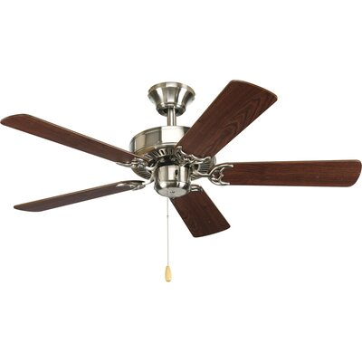 42 Goreville 5-Blade Ceiling Fan Finish: Brushed Nickel with Cherry / Natural Cherry Blades
