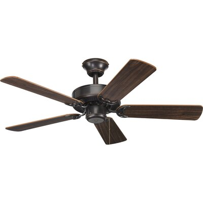 42 Goreville 5-Blade Ceiling Fan Finish: Antique Bronze with Walnut / Cherry Blades