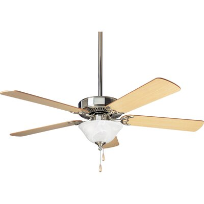 52 Scotty 5-Blade Steel Ceiling Fan Finish: Brushed Nickel with Cherry / Natural Cherry Blades