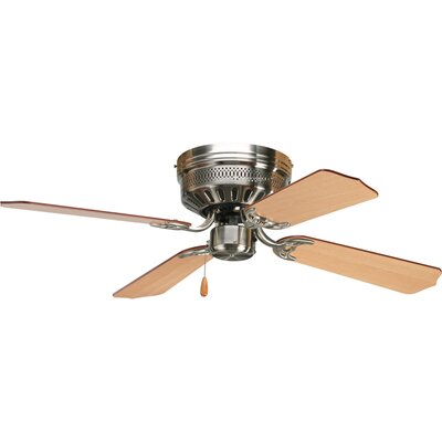 42 Scotty 4-Blade Ceiling Fan Finish: Brushed Nickel with Cherry / Natural Cherry Blades