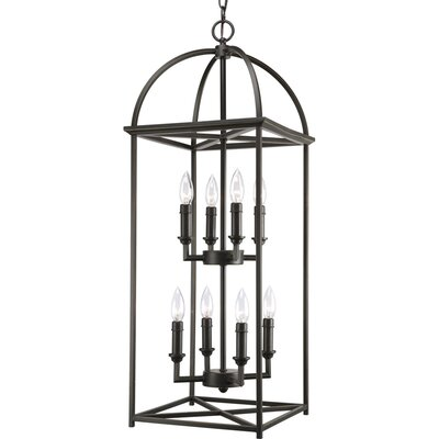 Symonds 8-Light Foyer Lantern in Antique Bronze
