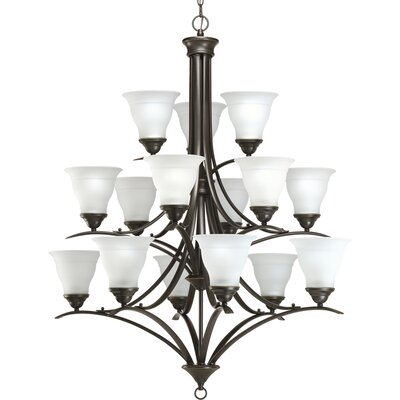 Roquefort Traditional 15-Light Shaded Chandelier