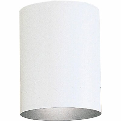 Cylinder 1-Light Flush Mount Shade Color: White