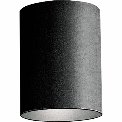 Novack 1-Light Metal Flush Mount Shade Color: Black