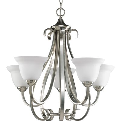 Torino 5-Light Shaded Chandelier Finish: Brushed Nickel