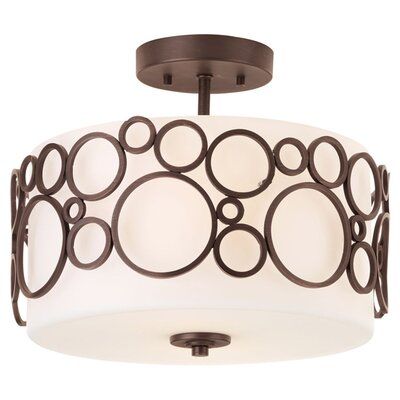 Bingo 2-Light Semi-Flush Mount Finish: Venetian Bronze