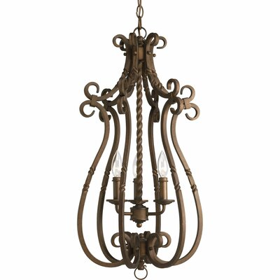 Jakes 3-Light Foyer Pendant Finish: Roasted Java