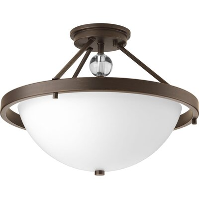 Compass 2-Light Semi Flush Mount