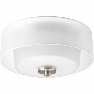 Invite 2-Light Flush Mount Finish: Brushed Nickel