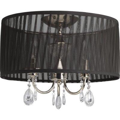 Noir 3-Light Drum Pendant