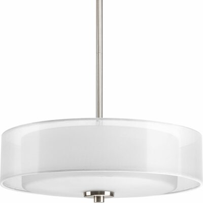 Ernestina 3-Light Drum Pendant Finish: Brushed Nickel