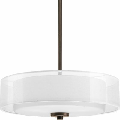 Invite 3-Light Semi Flush Mount Finish: Antique Bronze