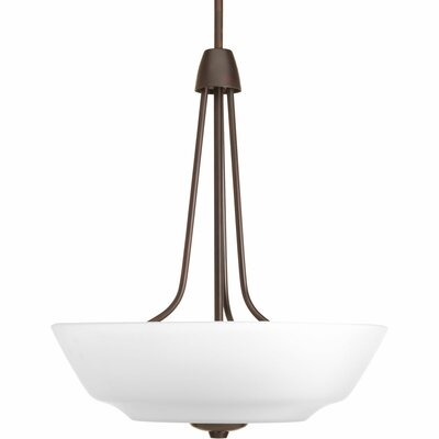 Goodhue 3-Light Inverted Pendant Finish: Antique Bronze, Bulb Type: GU-24 (included)