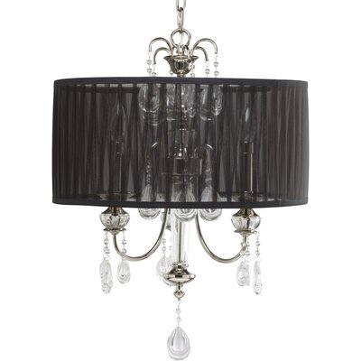 Noir 3-Light Drum Chandelier