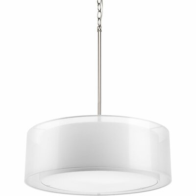 Raveena 3-Light Mylar Drum Pendant Finish: Brushed Nickel