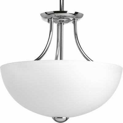 Maccharles 2-Light Semi Flush Mount Finish: Polished Chrome