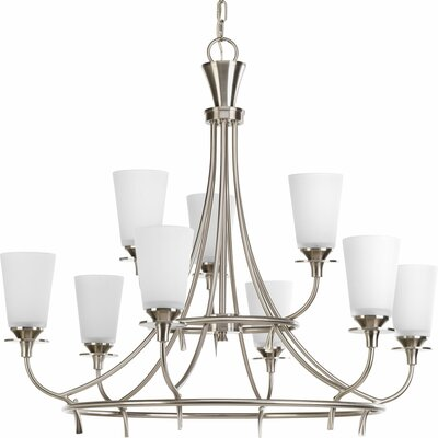 Risha Contemporary 9-Light Shaded Chandelier