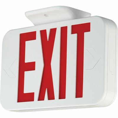 LED Exit Sign Letters Color: Red