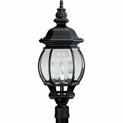 Triplehorn 3-Light Antique Lantern Head in Black