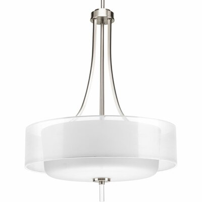 Invite 4-Light Drum Pendant Finish: Brushed Nickel