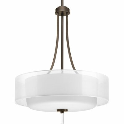 Ernestina 4-Light Drum Pendant Finish: Antique Bronze