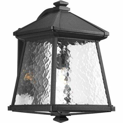 Triplehorn 1-Light Wall Black Lantern