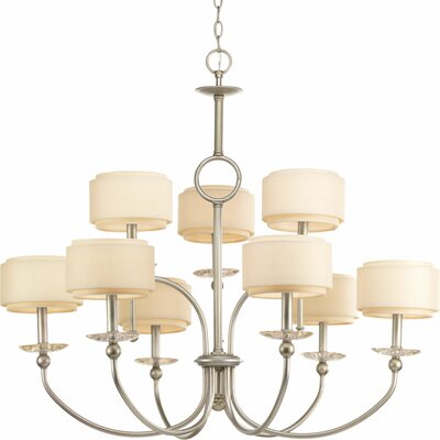 Frieda 9-Light Shaded Chandelier