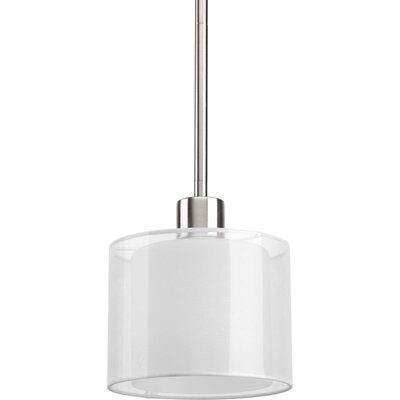 Invite 1-Light Mini Pendant Finish: Brushed Nickel