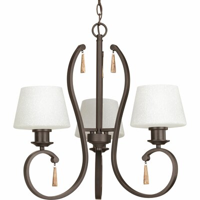 Catharine 3-Light Shaded Chandelier