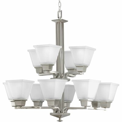 Chickamauga 12-Light Shaded Chandelier